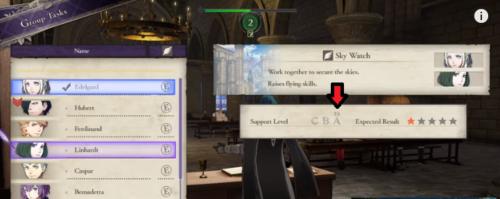 キャラクター同士の支援状況が見れる2