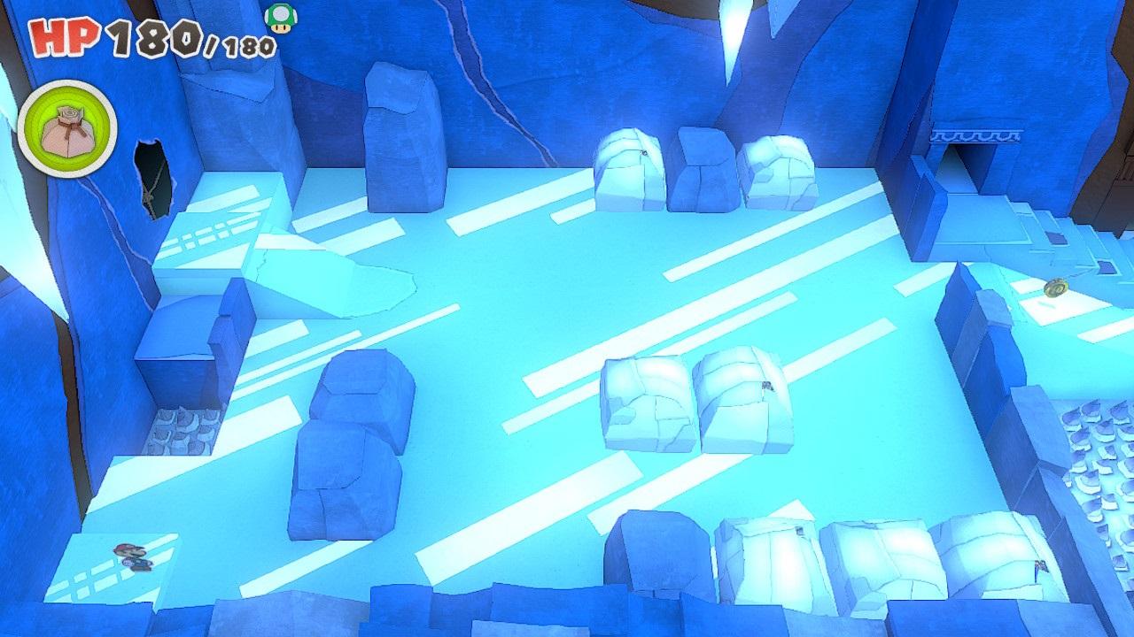 氷のステージ特有のギミック